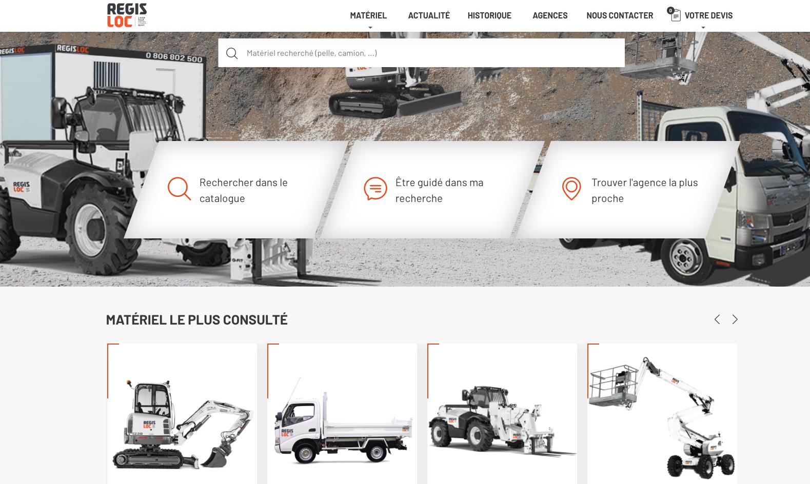 Nouveau site internet REGIS LOC