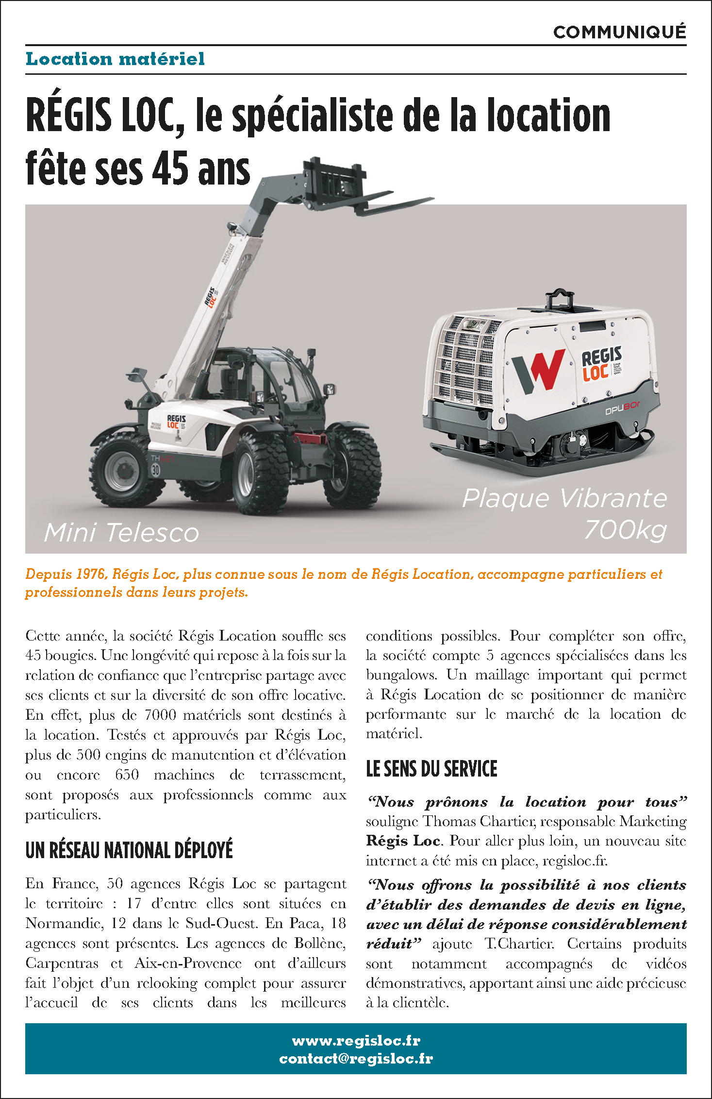 Article de Presse REGIS LOC dans La Provence