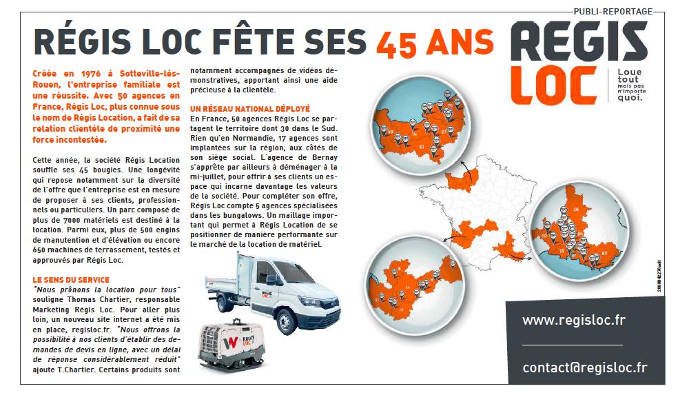 Article de Presse REGIS LOC dans Paris-Normandie