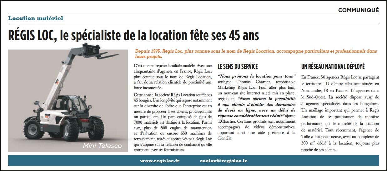 Article de Presse REGIS LOC dans Sud Ouest