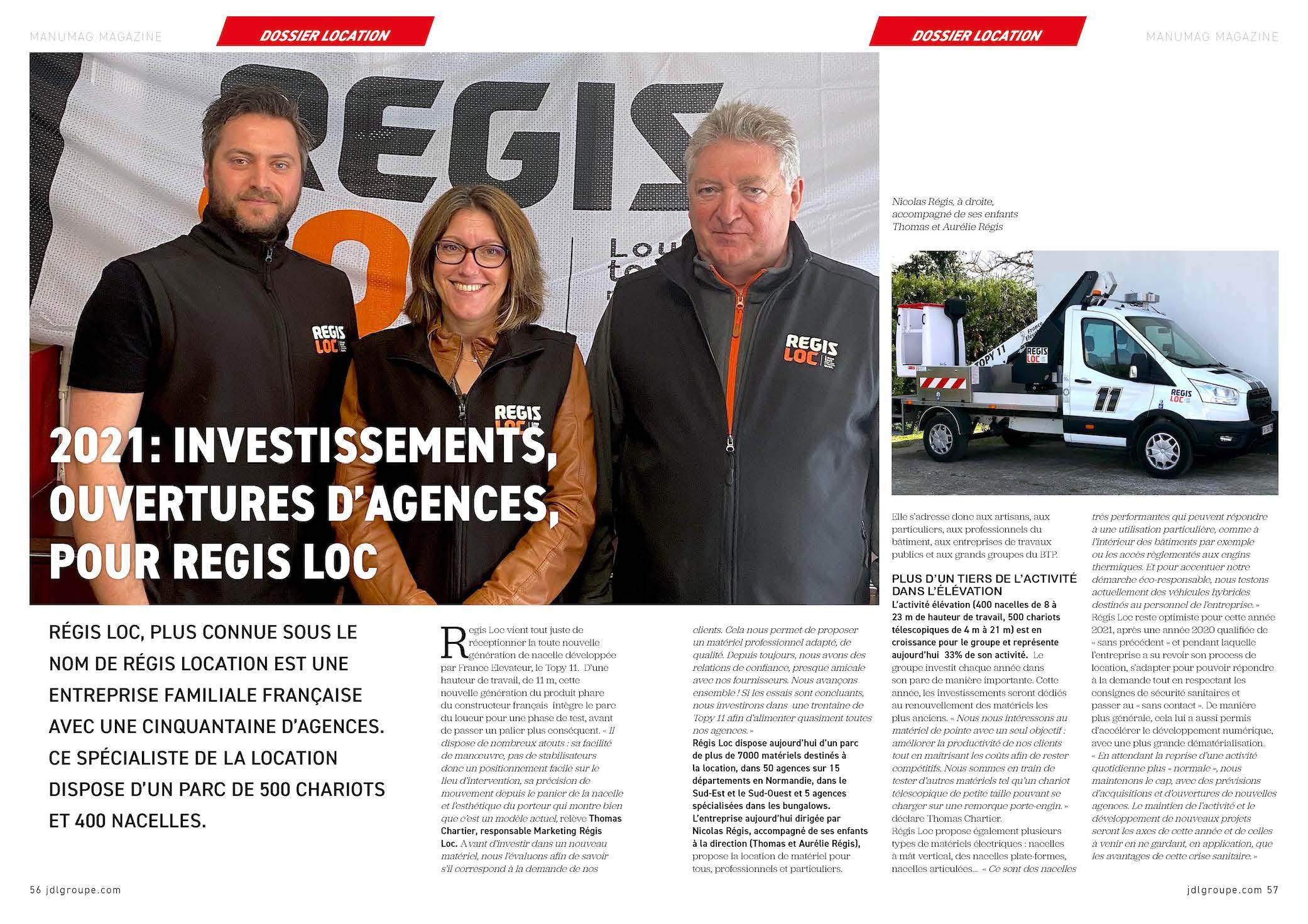 Nouvel article REGIS LOC